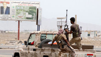 درگیری نظامی نیروهای عربستان و امارات در جنوب یمن
