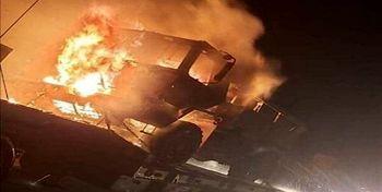 حمله گروه های مقاومت به کاروان  ارتش آمریکا در جنوب عراق