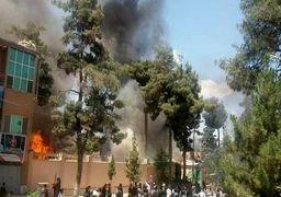معترضان خشمگین ساختمان استانداری فاریاب را آتش زدند