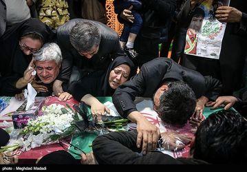 مراسم وداع با پیکر آتش نشانان شهید حادثه پلاسکو